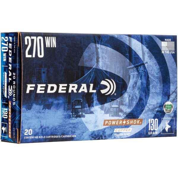 .270 Win. Federal Power Shok Copper HP 130 grs., Federal Ammunition