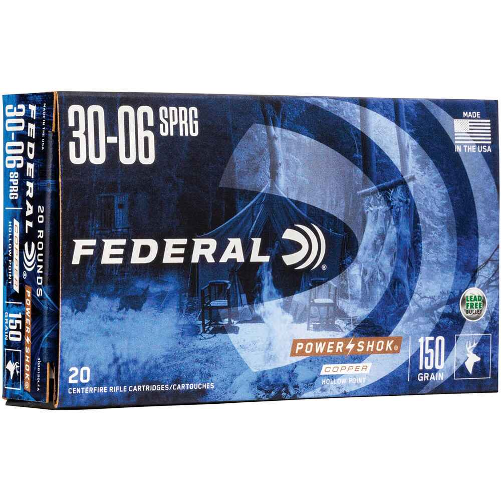 .30-06 Spr. Power Shok Copper HP 150 grs., Federal Ammunition