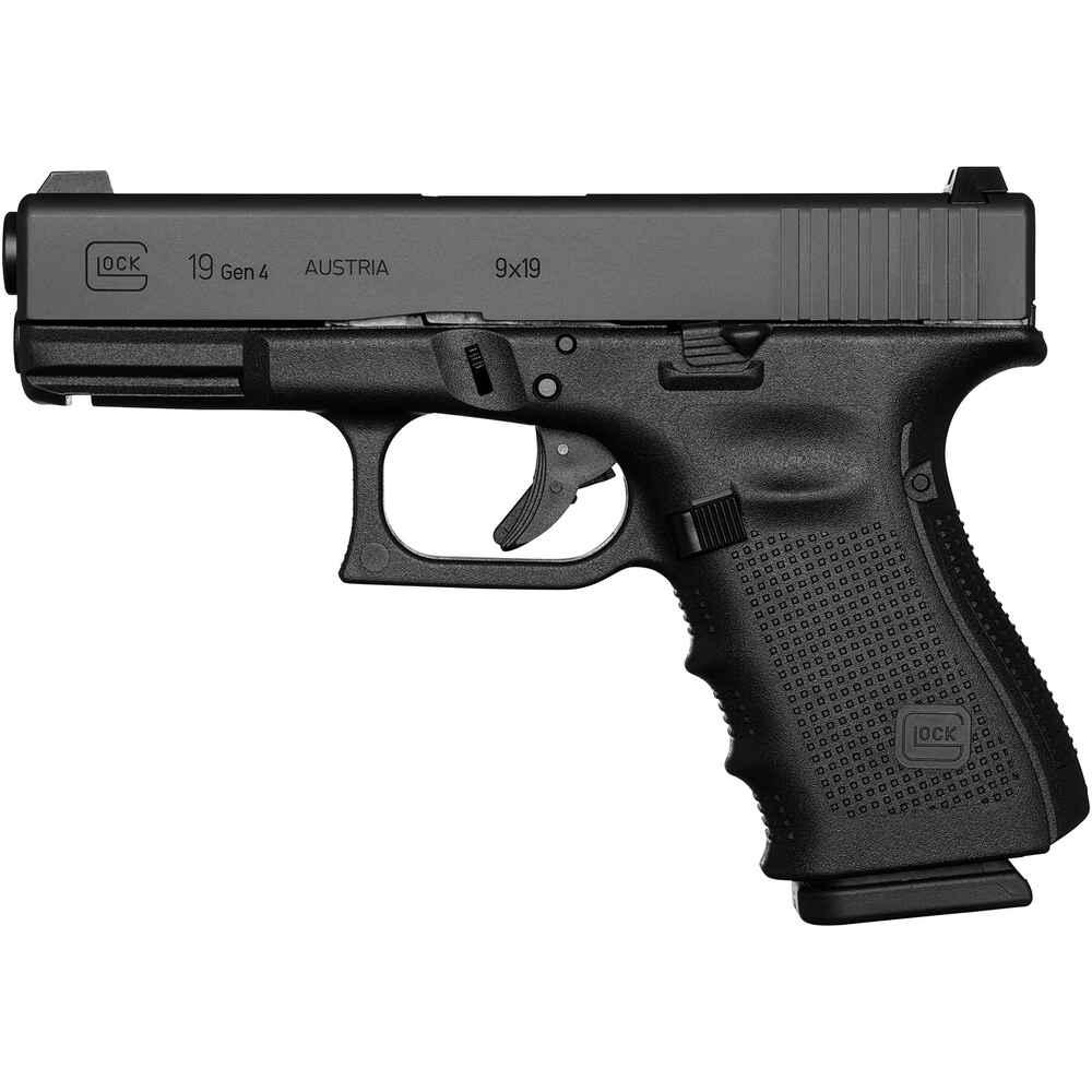 glock glock 19 gen4 ausf hrung feste visierung pistolen kurzwaffen sportwaffen. Black Bedroom Furniture Sets. Home Design Ideas