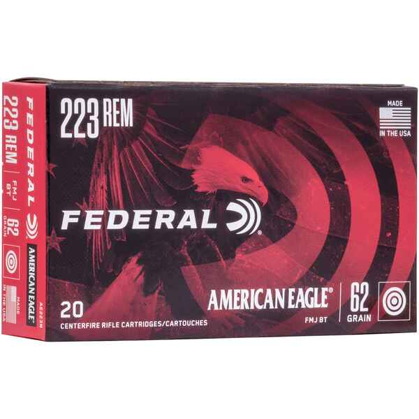 .223 Rem. American Eagle FMJ 62 grs., Federal Ammunition