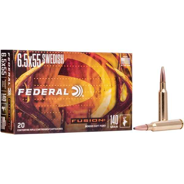 6,5x55 Fusion 9,1g/140grs., Federal Ammunition