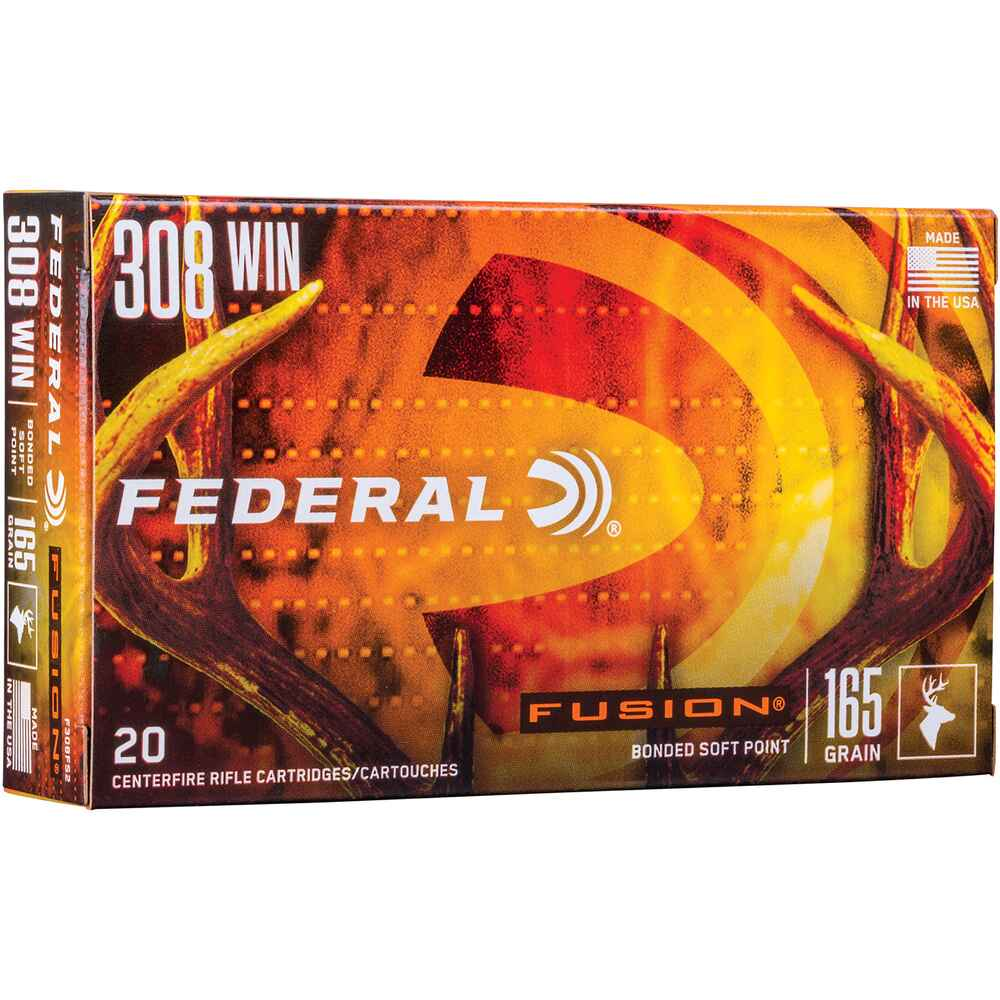 .308 Win. Fusion 165 grs., Federal Ammunition