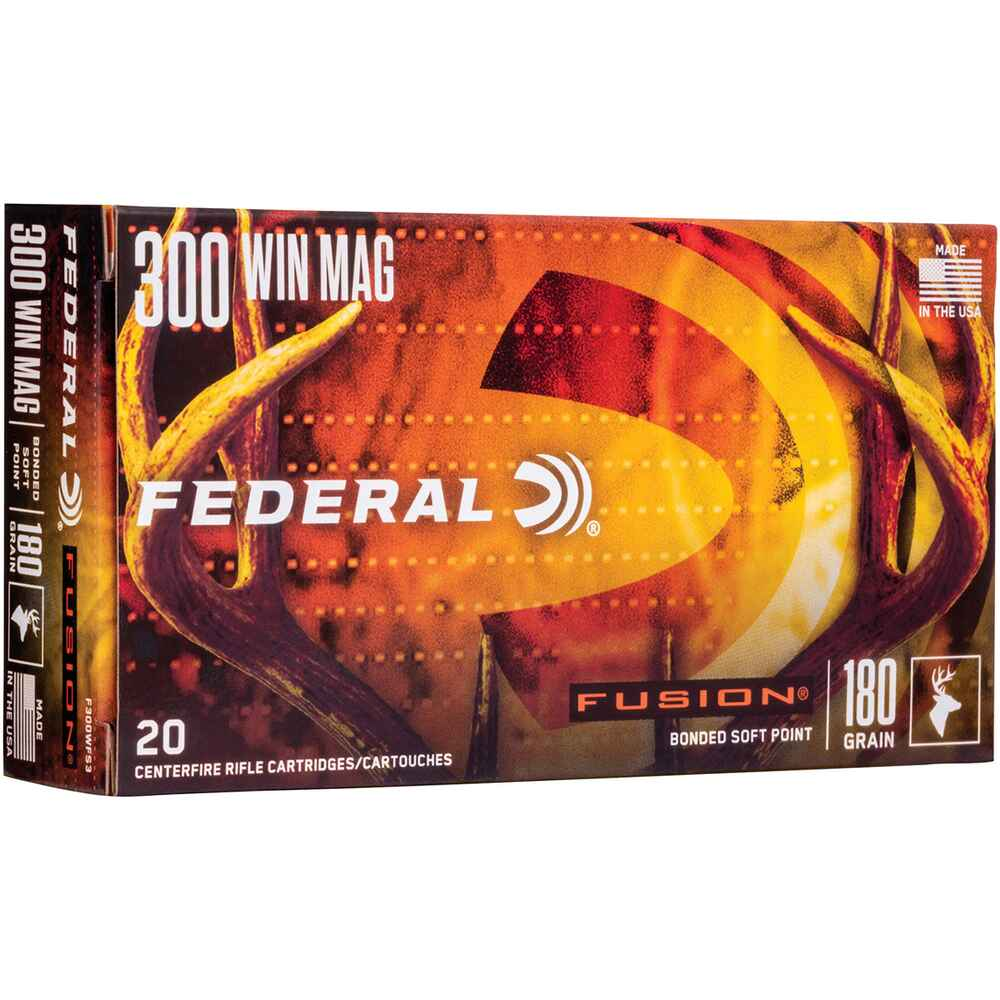 .300 Win. Mag. Fusion Int. 11,7g/180grs., Federal Ammunition