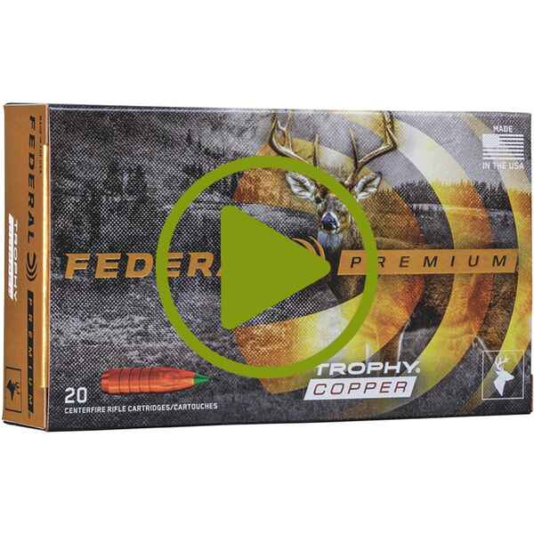 .270 Win. Premium Trophy Copper bleifrei 130 grs. , Federal Ammunition