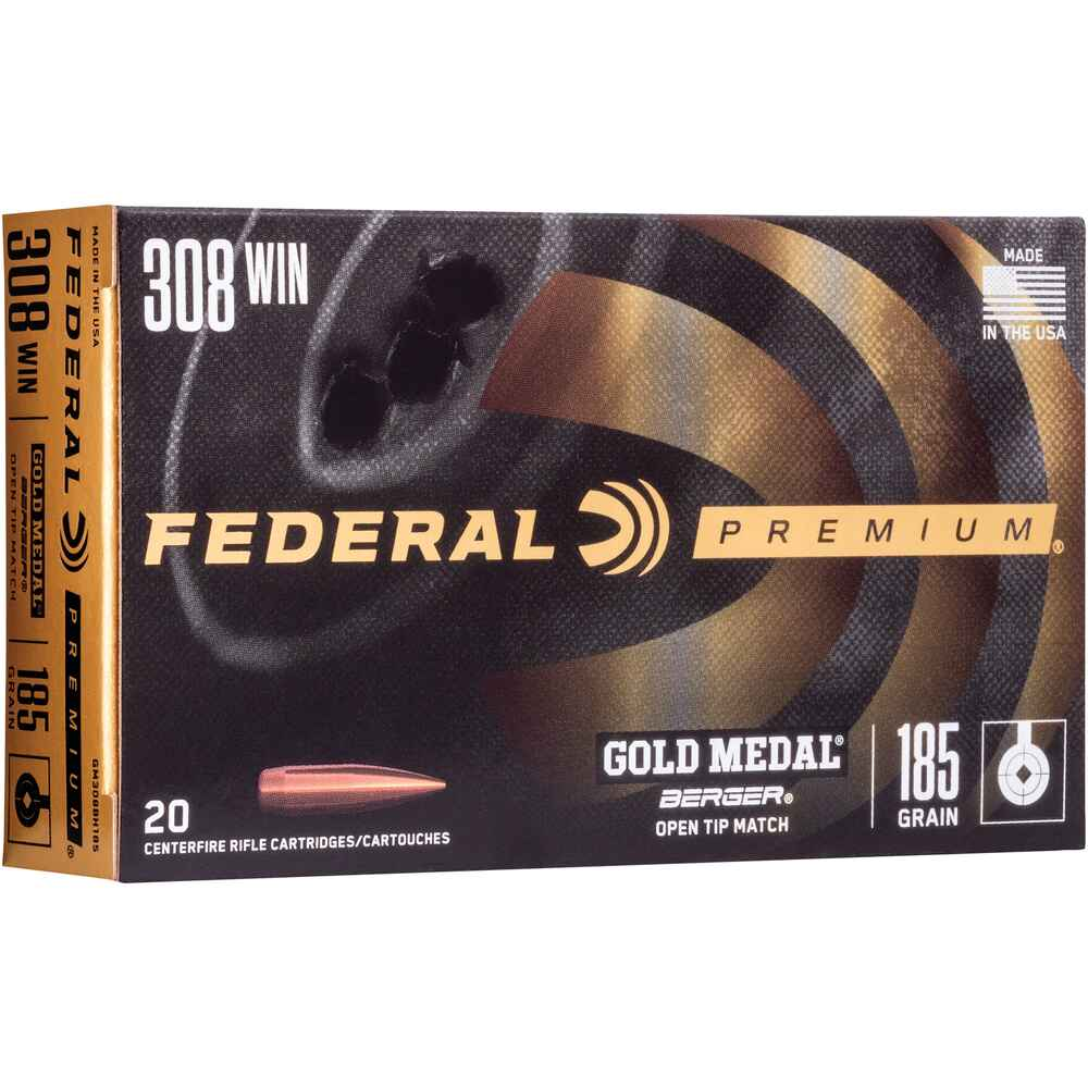 .308 Win. Premium Gold Medal Berger OTM 12,0g/185grs. , Federal Ammunition