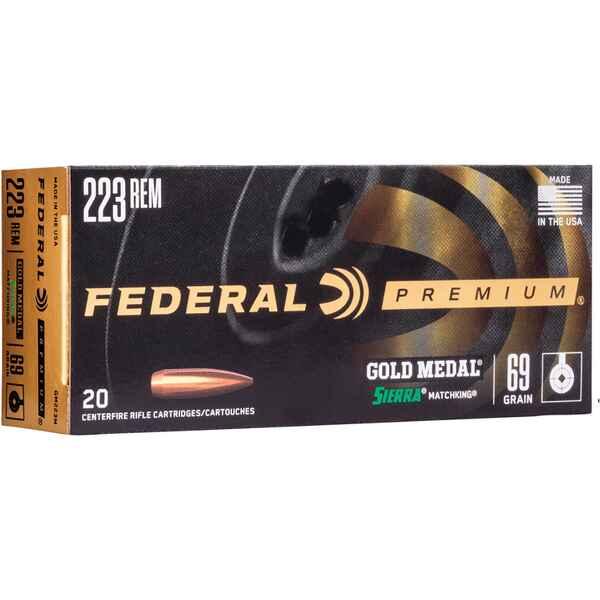 Federal Ammunition  223 Rem  Premium Gold Medal Sierra Match King 69 grs