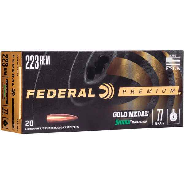 .223 Rem. Premium Gold Medal Sierra Match King 5,0g/77grs., Federal Ammunition