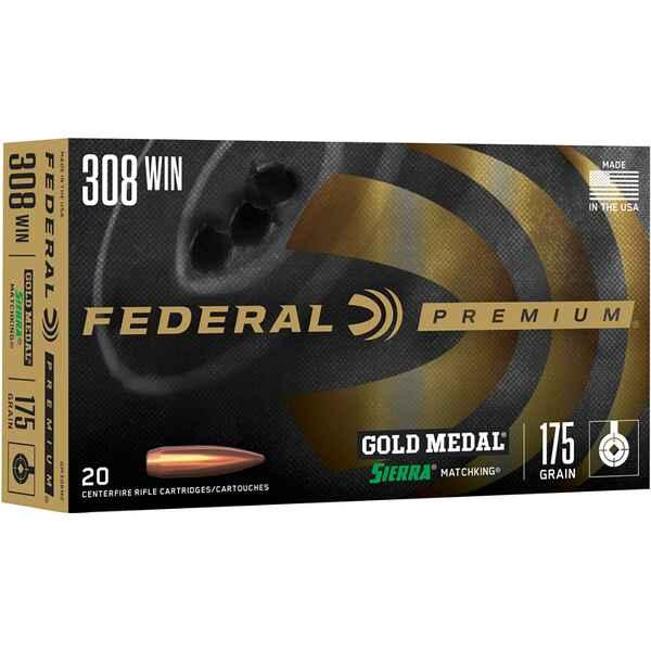 Federal Ammunition  308 Win  Premium Sierra Match King HPBT 175 grs