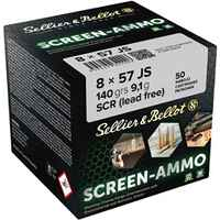 Screen-Ammo 8x57 IS SCR Zink 140 grs., Sellier & Bellot