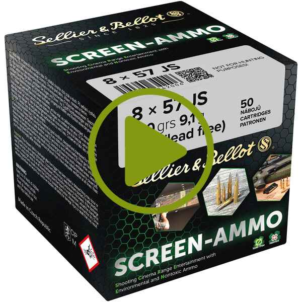 8x57 IS Screen-Ammo SCR Zink 9,0g/140grs., Sellier & Bellot