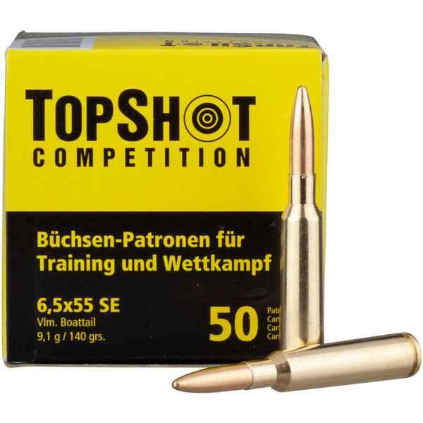 Topshot Competition 6 5x55 Fmj Bt 9 1g 140grs Kaliber 6 5x55 Patronen Fur Buchsen Munition Schiesssport Online Shop Frankonia De
