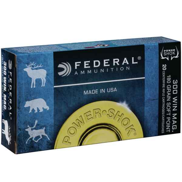 .300 Win. Mag. Teilmantel Power Shok 11,7/180 g/grs., Federal Ammunition