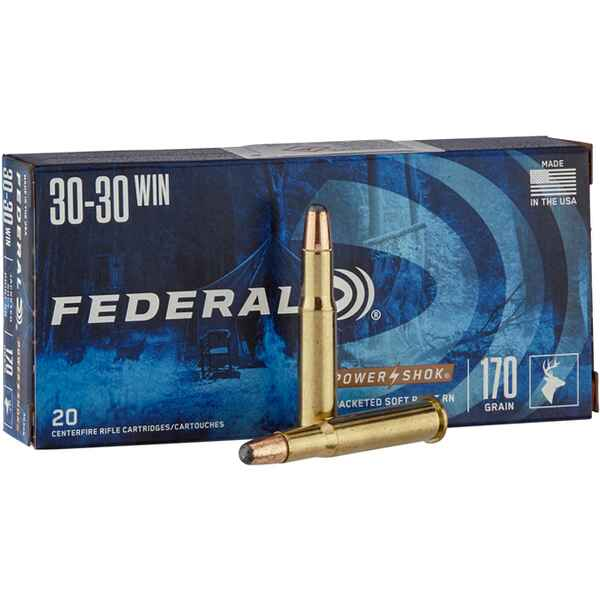 .30-30 Win.  Power Shok Tlm 11,0g/170grs., Federal Ammunition