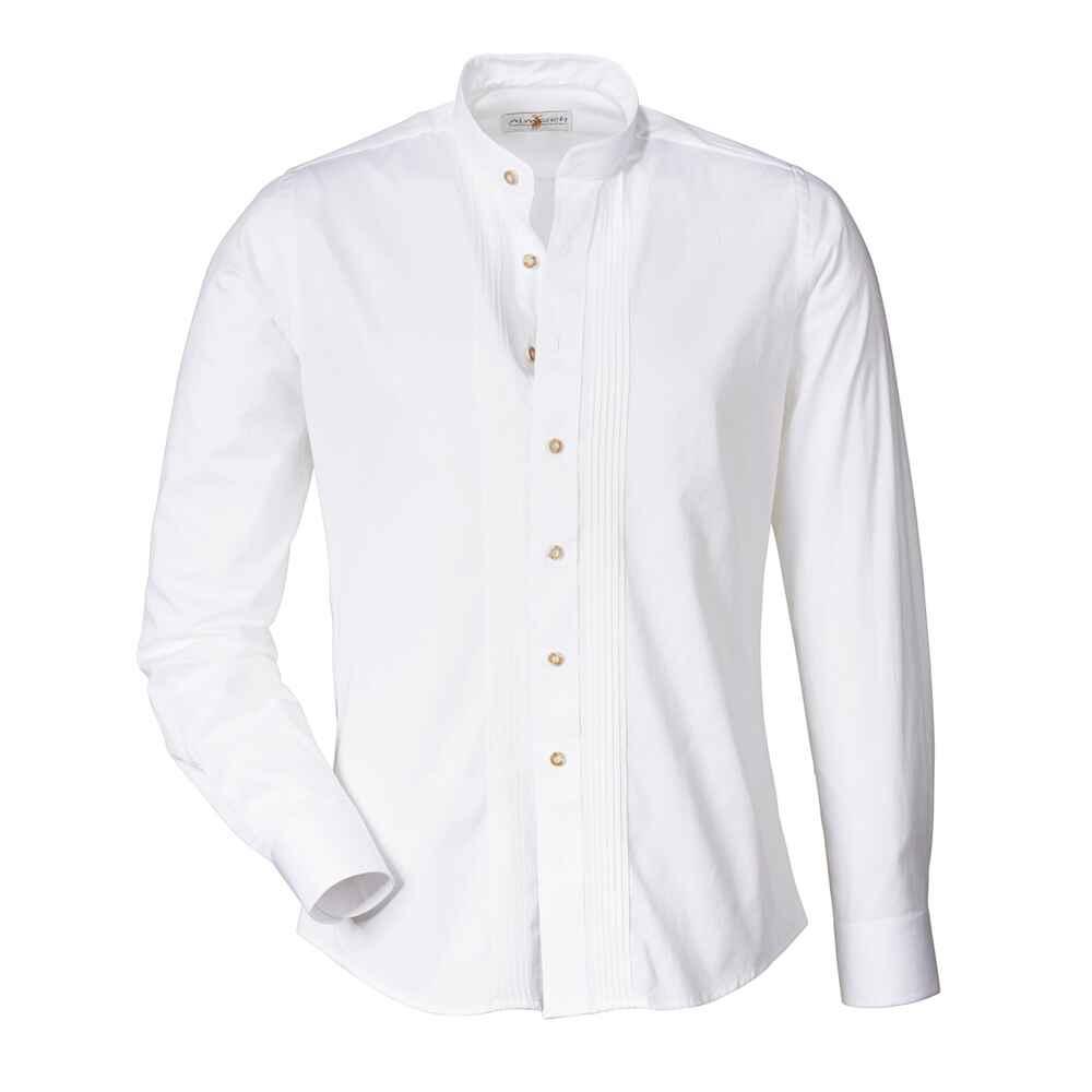 almsach stehkragen hemd slim wei hemden bekleidung herrenmode mode online shop. Black Bedroom Furniture Sets. Home Design Ideas