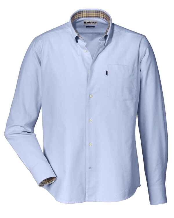 barbour hemd oxford blau hemden bekleidung. Black Bedroom Furniture Sets. Home Design Ideas