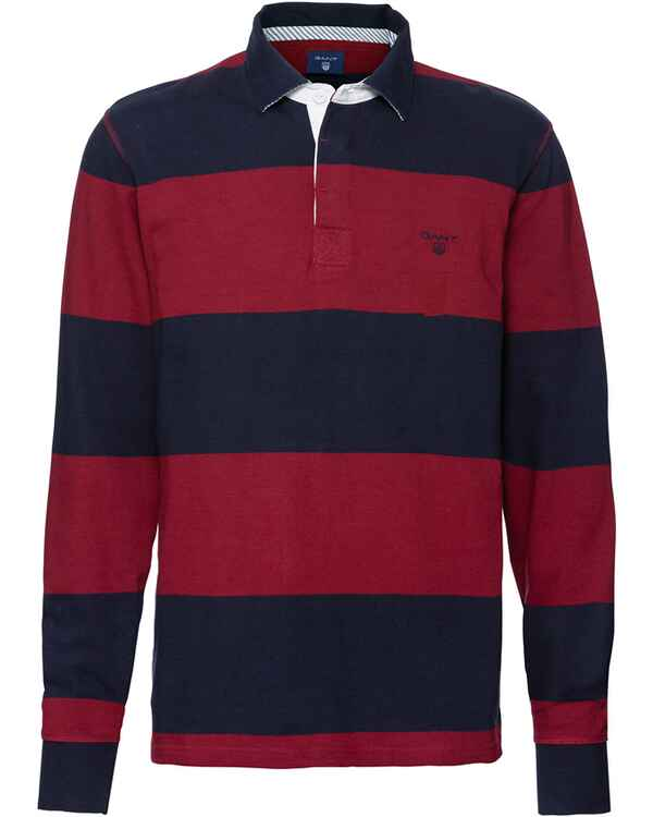 gant rugby shirt rot shirts sweats bekleidung herrenmode mode online shop. Black Bedroom Furniture Sets. Home Design Ideas