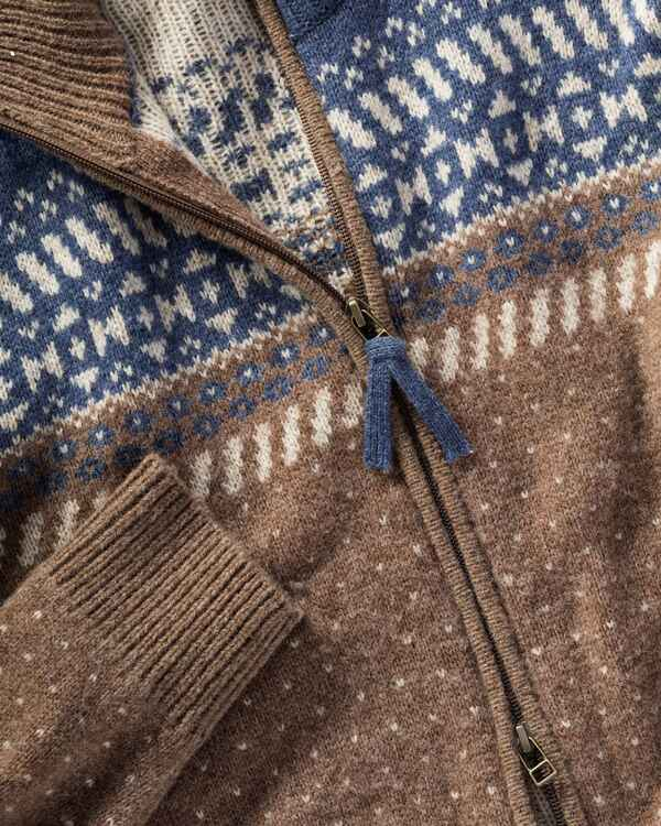 Jacquard-Strickjacke, HIGHMOOR