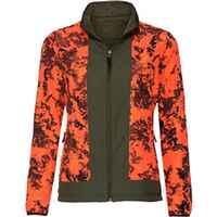 Damen Wendejacke Robuststrick + Signalfarbe, Parforce