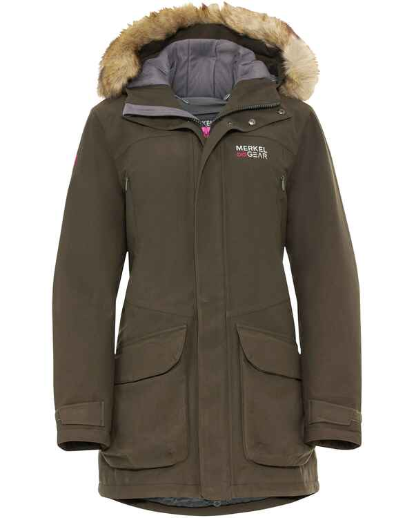 Damen Winterjacke Expedition WNTR Parka Women, Merkel Gear