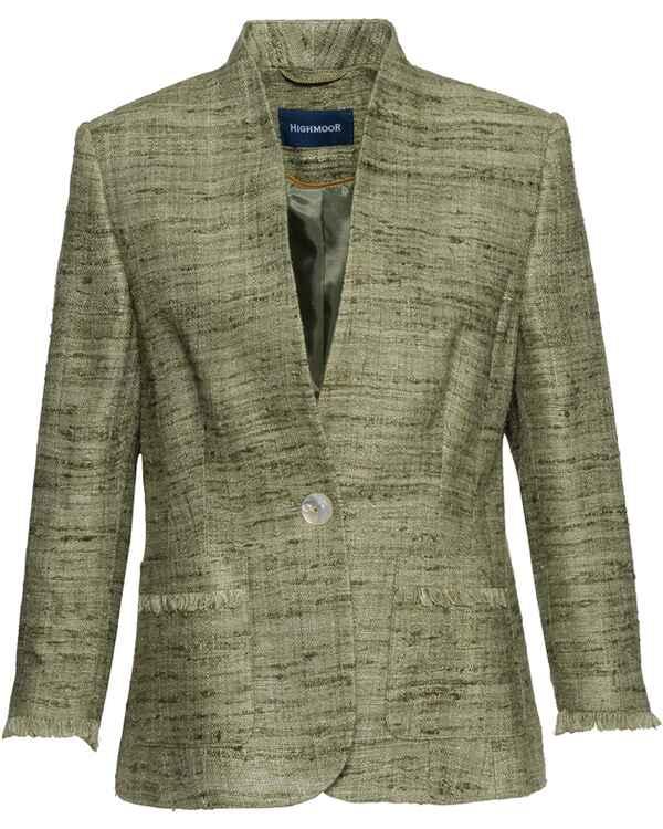 31399cb3a878da HIGHMOOR Jacke aus Wildseide (Oliv) - Blazer   Janker - Bekleidung ...