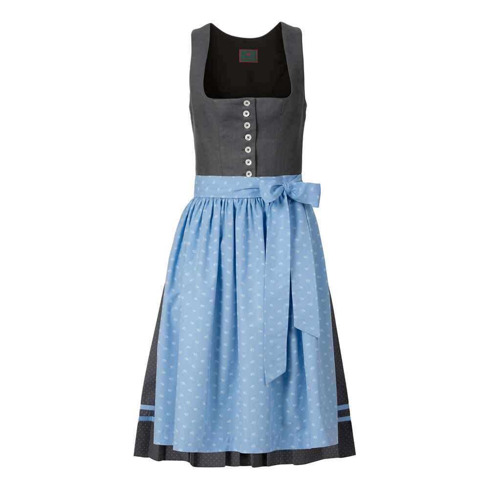 reitmayer midi leinen dirndl grau dirndl kleider bekleidung damenmode mode online. Black Bedroom Furniture Sets. Home Design Ideas
