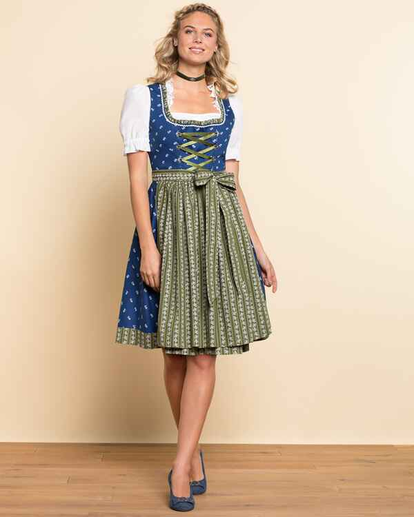 luis steindl midi dirndl aus baumwolle blau dirndl kleider bekleidung damenmode mode. Black Bedroom Furniture Sets. Home Design Ideas