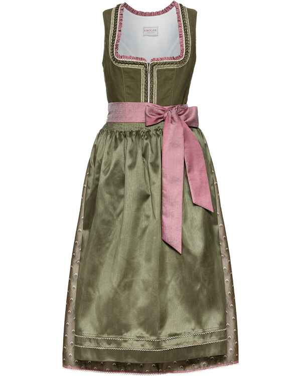 9cf6700a28c735 Krüger Collection Langes Dirndl Matilda (Oliv/Rosa) - Dirndl ...