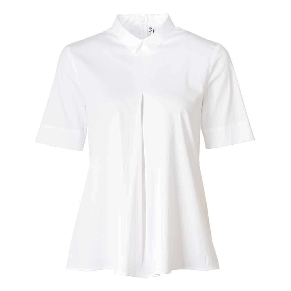 seidensticker bluse mit bubikragen wei blusen bekleidung damenmode mode online shop. Black Bedroom Furniture Sets. Home Design Ideas