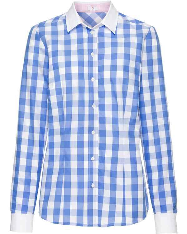 7876888bc59339 Seidensticker Bluse, Bäckerkaro (Blau) - Blusen - Bekleidung ...