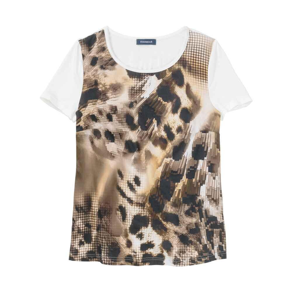 T-Shirt mit Animalprint, HIGHMOOR