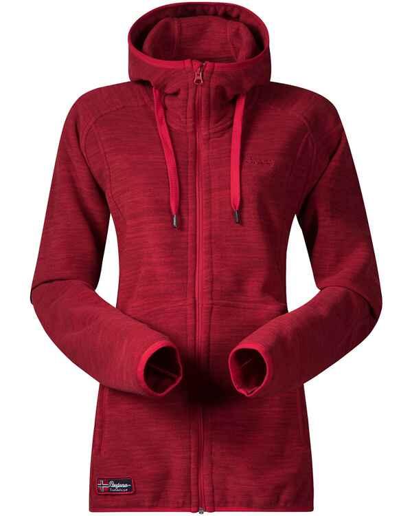 48314ccbae24a2 Bergans Damenfleecejacke Hareid Lady (Red Melange) - Jacken   Parkas ...