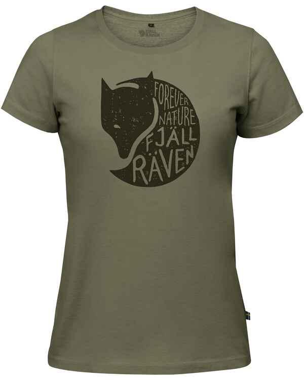 Fjällräven Damen T-Shirt Forever Nature (Grün) - Blusen   Shirts ... 5a6391407d