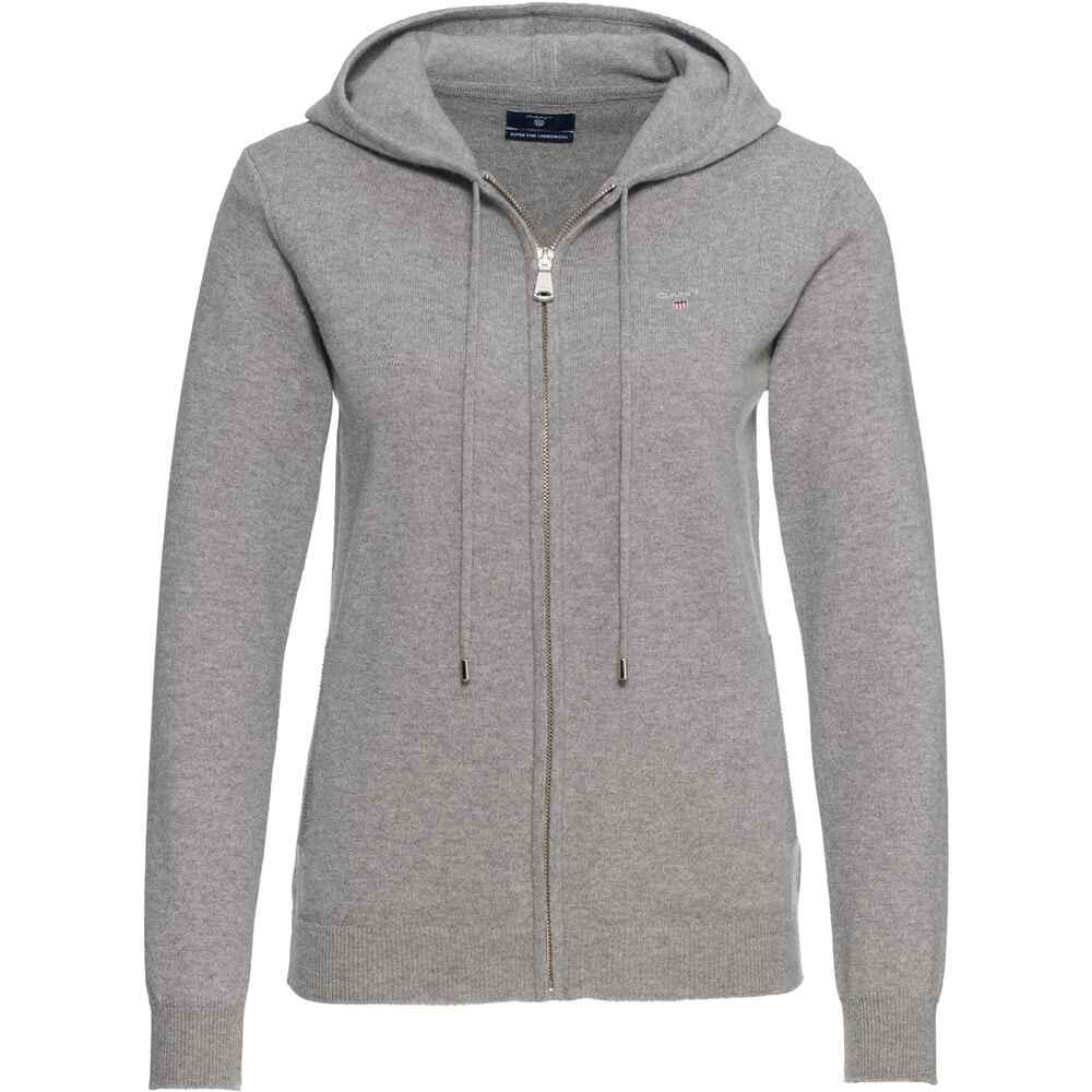 b4762a293f3b15 Gant Strickjacke mit Reißverschluss (Grau-Melange) - Blusen & Shirts ...