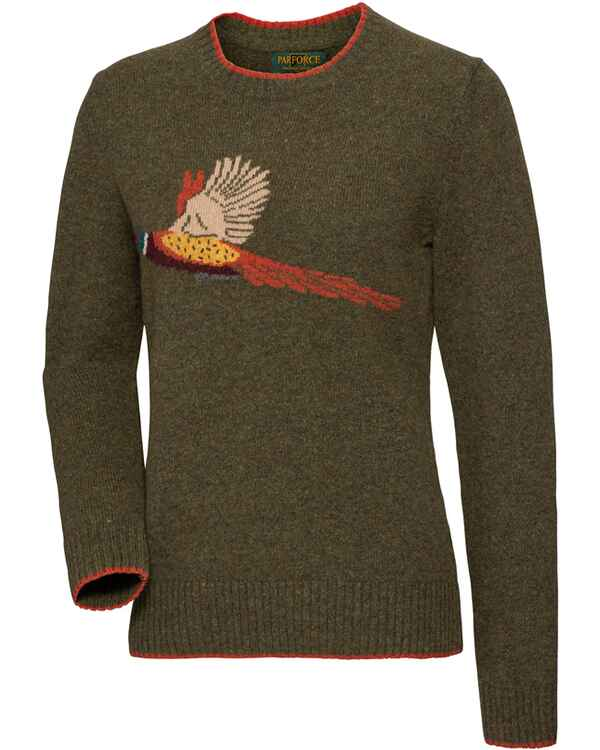 damen pullover parforce traditional hunting damen pullover mit fasanenmotiv  oliv  parforce traditional hunting damen
