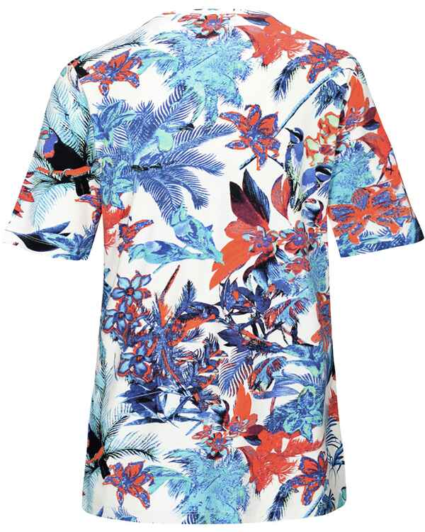 T-Shirt mit Tropical-Print, Clarina