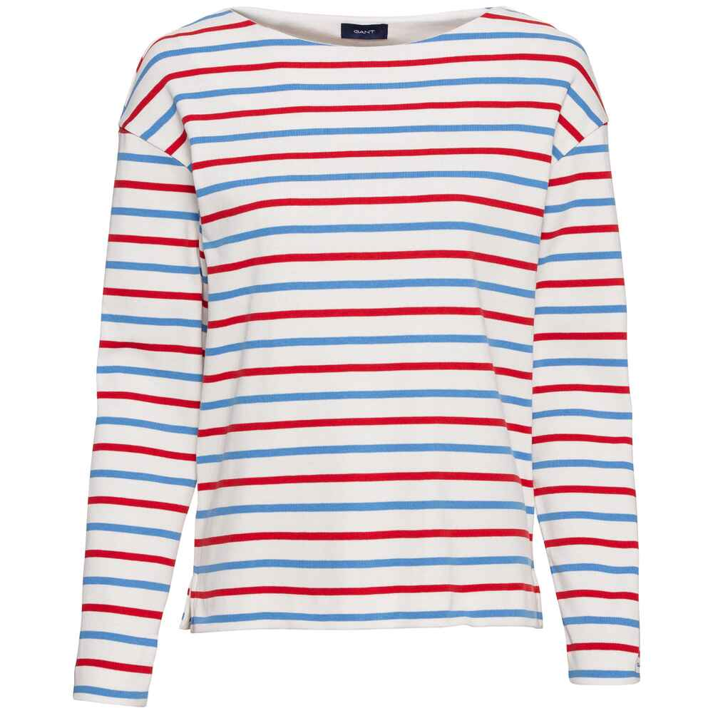Sweatshirt Striped Boatneck, Gant
