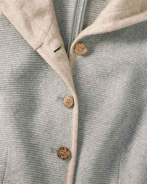 Lange Linksstrickjacke, White Label