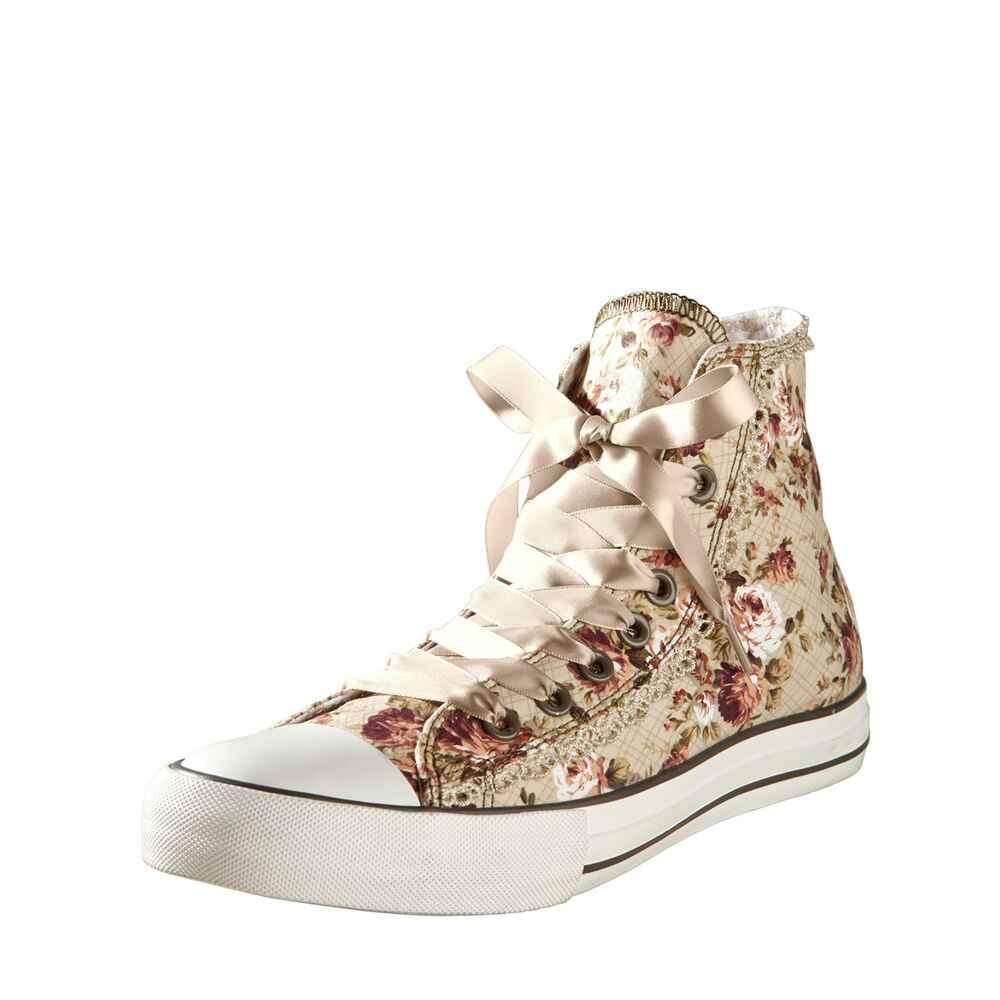 kr ger madl sneaker rosenmotive beige schuhe trachtenmode damenmode mode online shop. Black Bedroom Furniture Sets. Home Design Ideas