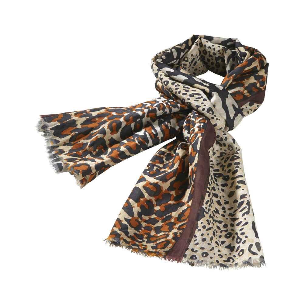 passigatti schal leoparden muster braun schals t cher accessoires damenmode mode. Black Bedroom Furniture Sets. Home Design Ideas