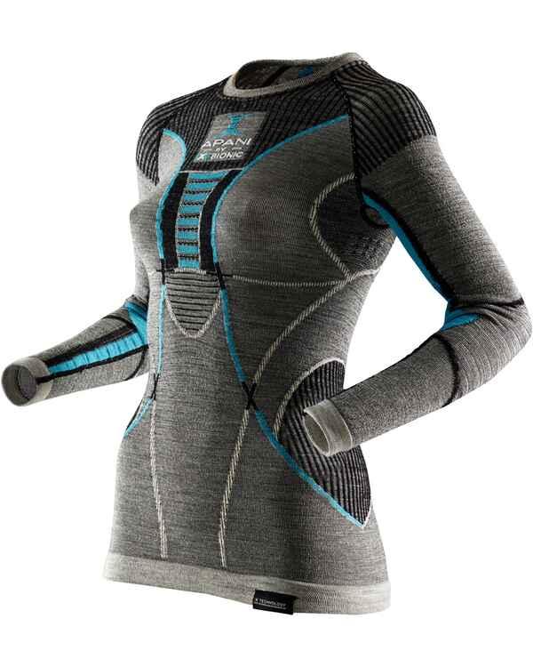 1d6eaddd4cd71b X Bionic Langarm Unterhemd Apani Merino Fastflow (Schwarz ...
