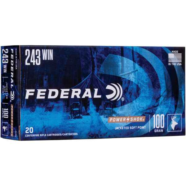 .243 Win. Power Shok Teilmantel 100 grs., Federal Ammunition