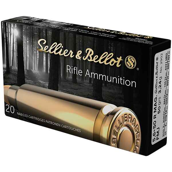 5,6x50 R Mag., Vollmantel 50 grs., Sellier & Bellot
