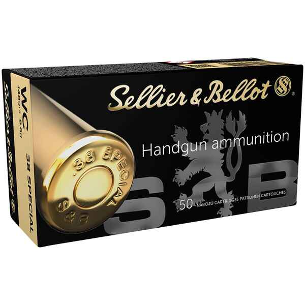 .38 Special Wadcutter 9,59g/148grs., Sellier & Bellot