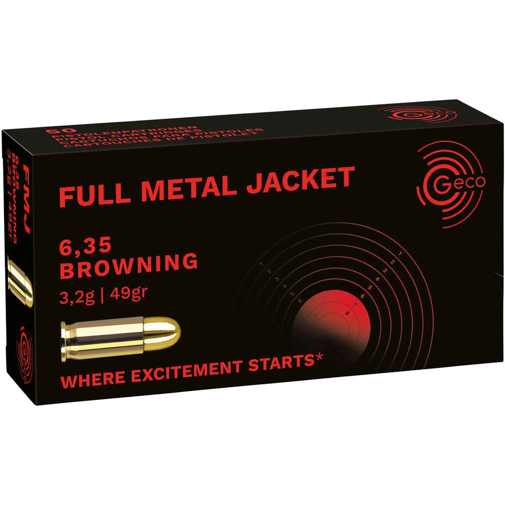 6,35 Browning Vollmantel 3,24g/50grs., Geco