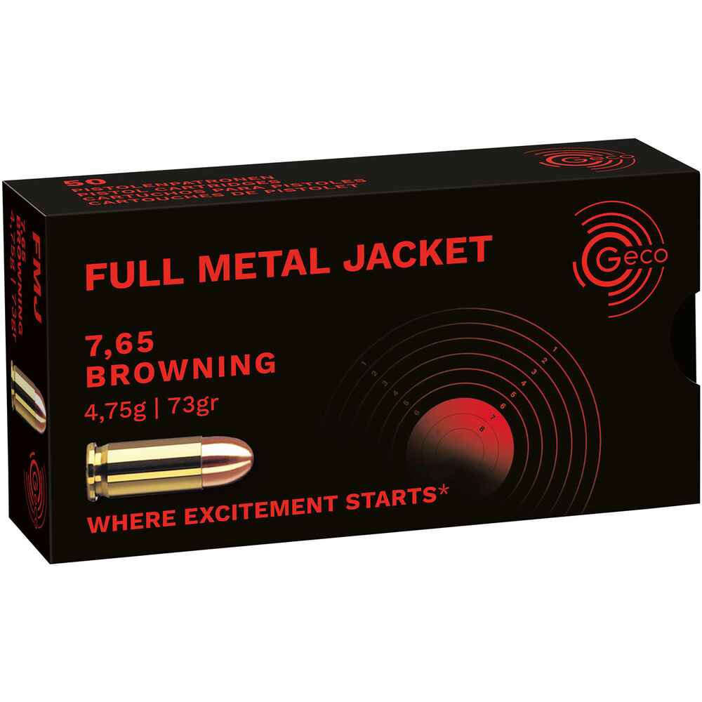 7,65 Browning, Vollmantel 4,75g/73grs., Geco