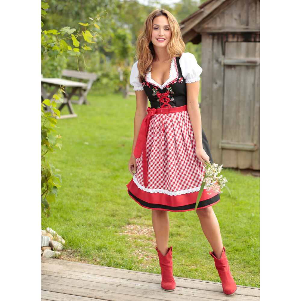 stockerpoint midi dirndl 3 teilig schwarz dirndl. Black Bedroom Furniture Sets. Home Design Ideas