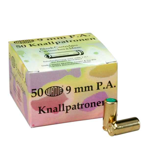Knallpatronen 9 mm P.A., Wadie