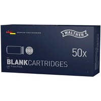 Blank cartridges / cal. 9 mm P.A.K. - 50 rounds, Walther