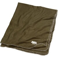 Car blanket with wild boar theme.