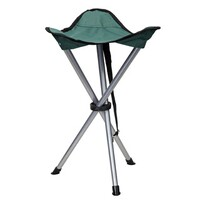 Three-legged hunting stool, green